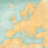 Map Of Europe - Ireland (vintage Series)