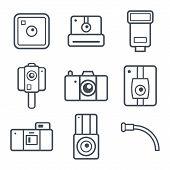 Icons Retro Photo Camera