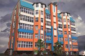 stock photo of orthogonal  - Multistorey building structure building social housing neighborhood - JPG