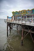 Brighton Pier Under Cloudy Skies, Brighton, England