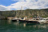 Beautiful Yacht In The Mediterranean Port.