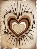 antique heart  sign