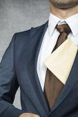 Proud Businessman With Envelope
