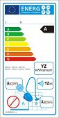 Vacuum cleaners for hard floor new energy rating graph label