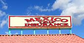 Sign found in southern Arizona selling trip insurance for going into Mexico