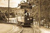 Old fashioned tram