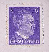 Old Postage Stamp With Adolf Hitler