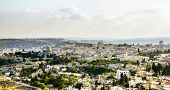 Panorama Of The Old City From The Mount Of Olives, Jerusalem Israel