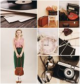 Retro collage