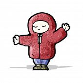 cartoon boy in winter coat