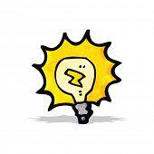 cartoon electric light bulb