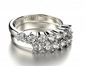Wedding Ring with diamond. Fashion Jewelry background