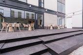 Tables On A Terrace
