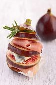 fig,bacon and cheese