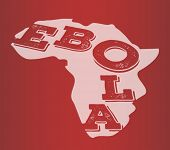 Digitally generated Ebola text in africa outline vector