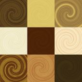 Set Of Wood Swirl Generated Textures