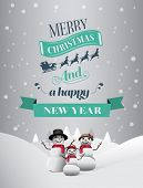 Digitally generated Christmas greeting message with illustrations