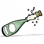 cartoon champagne bottle;