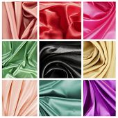 Beautiful silk drape collage