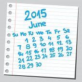 Calendar 2015 june (sketch style)