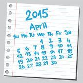 Calendar 2015 april (sketch style)