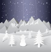 Digitally generated Christmas vector with flying santa and reindeer