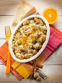 gnocchi gratin with nutmeg and orange peel