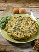 pie with spelt and spinach