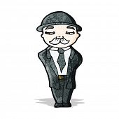cartoon businessman