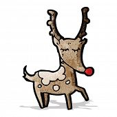cartoon reindeer