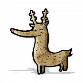 cartoon red nosed reindeer