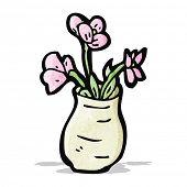 flowers in vase cartoon