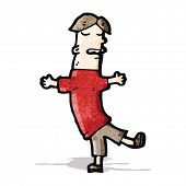 cartoon man dancing
