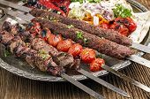 grilled kebab with koobideh