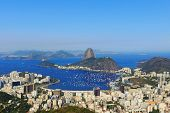 Sugarloaf Mountain Sky Without Clouds Guanabara Bay