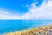 Blue ocean and blue sky in Okinawa