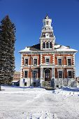 stock photo of illinois  - Old courthouse in Macomb McDonough County Illinois United States - JPG