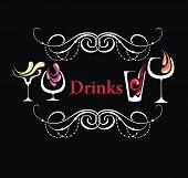 stock photo of cocktail menu  - Menu template - JPG