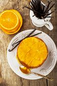 picture of upside  - Homemade orange cake upside down - JPG
