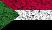 image of sudan  - Flag of Sudan with old texture - JPG