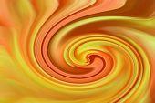 stock photo of chrysanthemum  - Abstract vortex created from orange - JPG