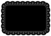 Black Eyelet Lace Place Mat