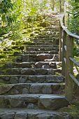 Aufsteigender Rock-Treppen