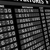 image of status  - Airport electronic flip - JPG