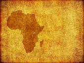Fundo Grunge continente africano, com espaço para texto