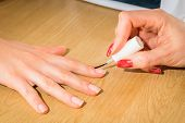 picture of manicure  - Manicure in the spa salon - JPG