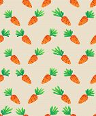 picture of carrot  - Carrot Seamless Pattern - JPG