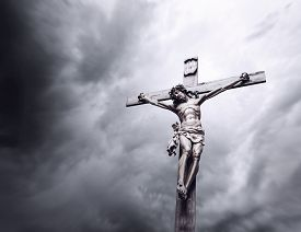 stock photo of crucifixion  - Crucifixion of Jesus Christ monument - JPG