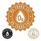 foto of trans  - No Trans Fat Icon Seal - JPG