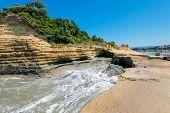 picture of sidari  - Sidari beach area at Corfu island Greece - JPG